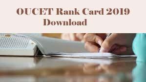 OUCET Rank card 2019, OUCET Rank card Download 2019, OUCET 2019 Rank card Download